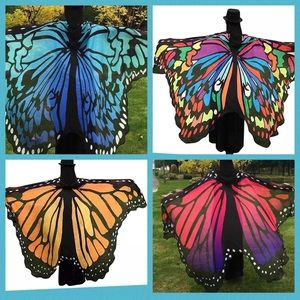 Brand New Full Length Polyester Butterfly Scarf